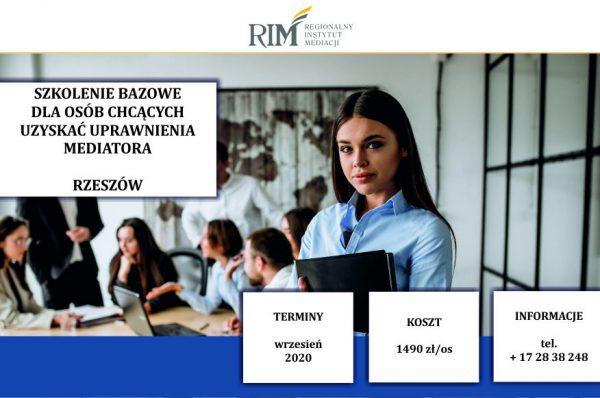 szkolenie bazowe dla mediatorów wrzesień 2020